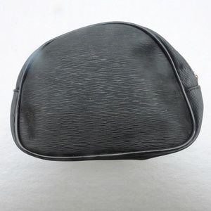 Lancome Bags - Black Lancome Compact Makeup Faux Leather Pouch